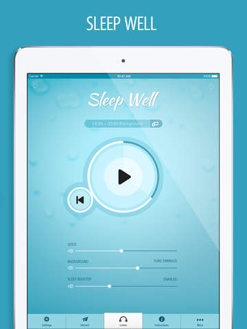 Sleep Well Hypnosis FREE - Cure Insomnia with Guided Relaxation & Ambient Sleeping Sounds screenshot