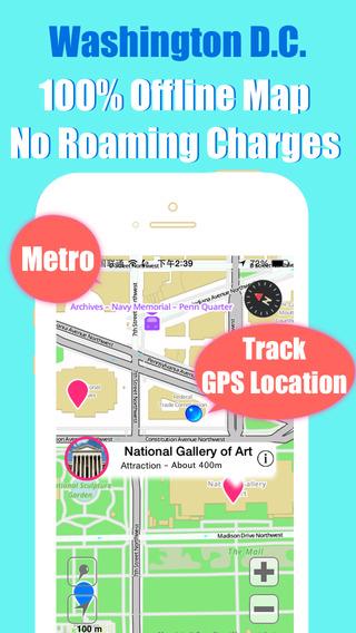 Washington D.C. travel guide and offline city map BeetleTrip DC metro subway trip route planner advi