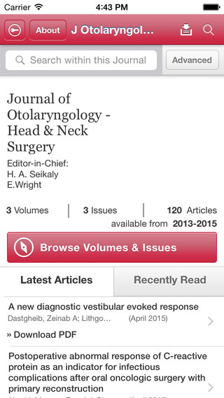 Journal of Otolaryngology - Head Neck Surgery