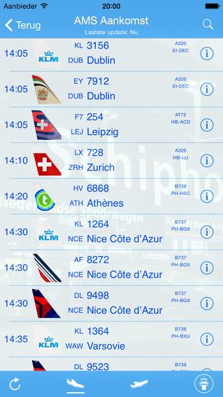 Amsterdam Schiphol iPlane Vluchtinformatie - Eindhovenm Rotterdam Netherlands Airport