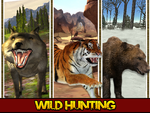 动物狩猎模拟器 - 野生动物的野生动物园拍摄鹿和灰