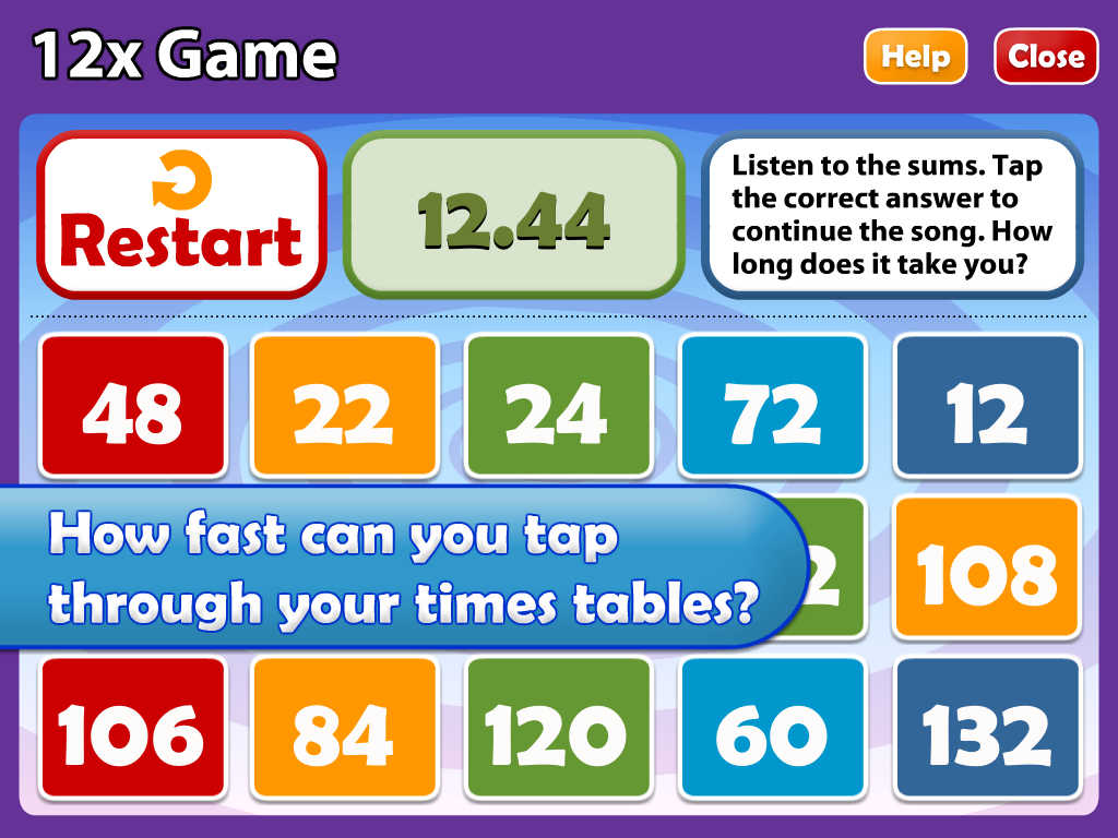 App shopper math songs times tables 7x 12x hd education for 12 times table song