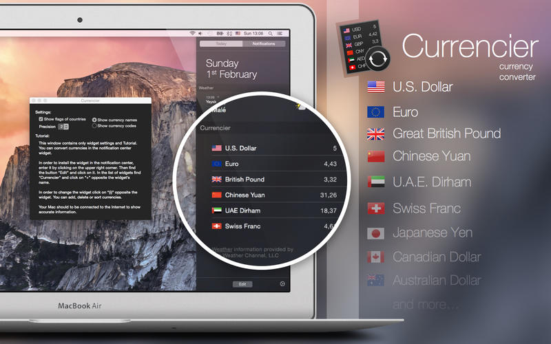 Currencier - Currency Converter Widget Screenshots