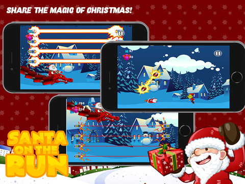 Santa on the Run Free: The Impossible Christmas Mission Game iPad Screenshot 1
