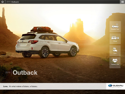 Subaru 2015 Outback Guided Tour