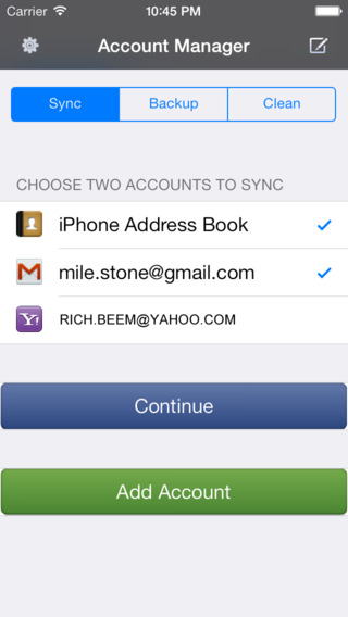 Contacts Sync Transfer Move Backup for iCloud Google Gmail Facebook