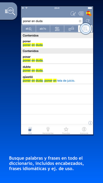 VOX Catalan <-> Spanish Dictionary iPhone Screenshot 2