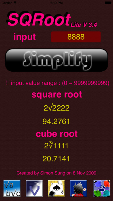SQRoot Lite iPhone Screenshot 2