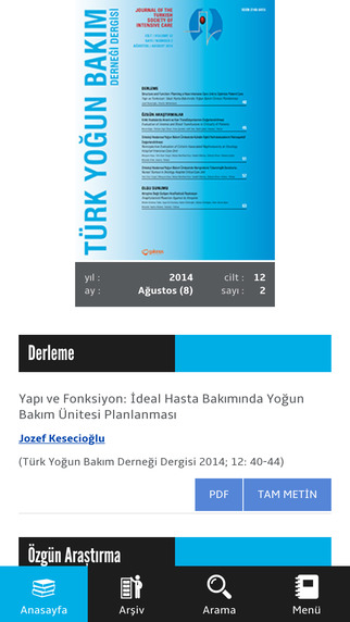 TYBDD - The Journal of the Turkish Society of Intensive Care - Türk Yoğun Bakım Derneği Dergisi