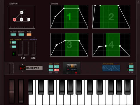 DXi FM synthesizer Screenshots