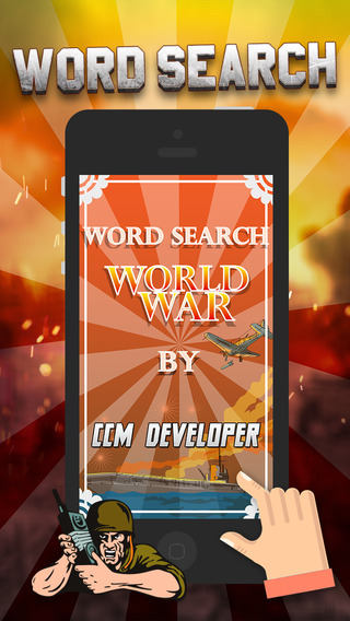 """Word Search World War """"History Puzzle Game"""""""