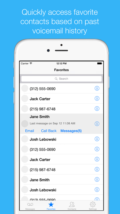 VoiceMail Inbox iPhone Screenshot 2