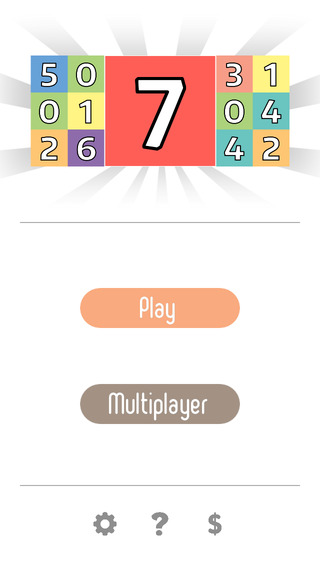 Three Sevens - Let's find the magic seven and clear some number blocks
