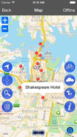 Sydney holiday offline travel map