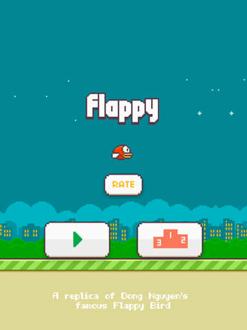 ipad Flappy - A Replica of the Original Bird Game Screenshot 0