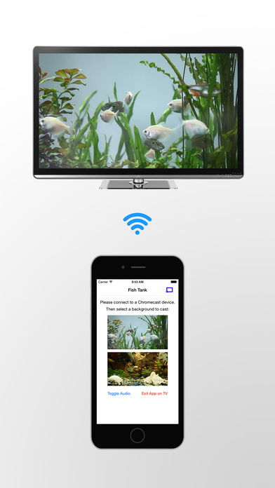 Fish tank on tv for chromecast on the app store for Fish tank app