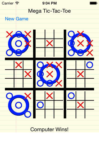 Mega Tic-Tac-Toe screenshot 1