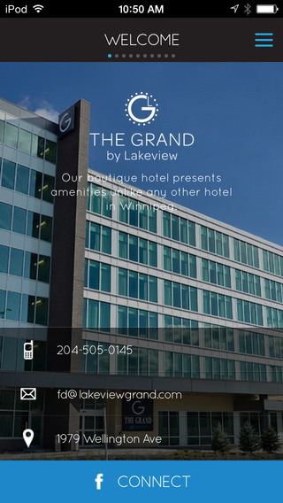 Grand Winnipeg Airport Hotel by Lakeview for iPad