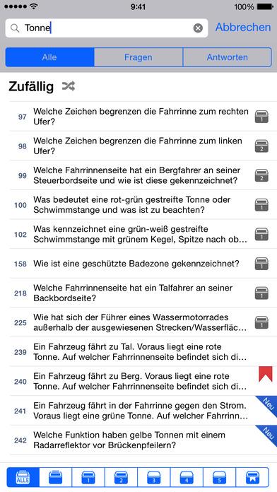 Sportbootführerschein Binnen iPhone Screenshot 4