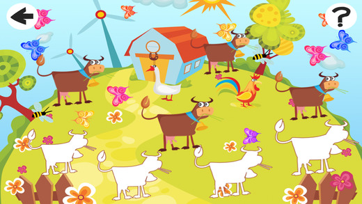Animals of the Farm Sort By Size Game: Learn and Play for Children