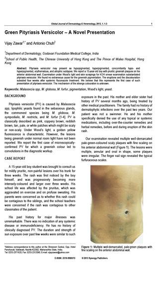 Global Journal of Dermatology Venereology