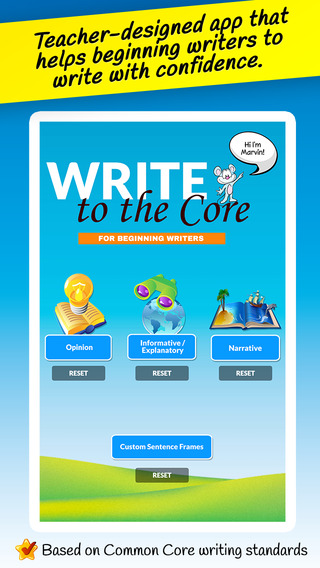 Write to the Core - Writing Prompts and Story Starters for the Beginning Writer