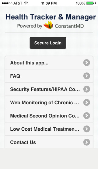 Health Tracker Manager by ConstantMD