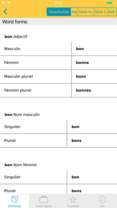 French <-> German Talking Dictionary Langenscheidt Basic iPhone Screenshot 5