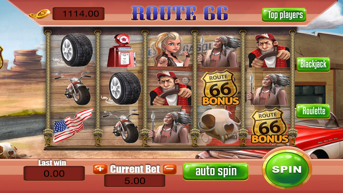 Route 66 slot machine