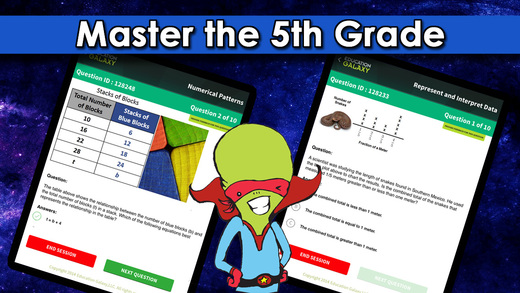 5th Grade Galaxy: Math Reading and Science - Study and Master Common Core STAAR or Your State Standa