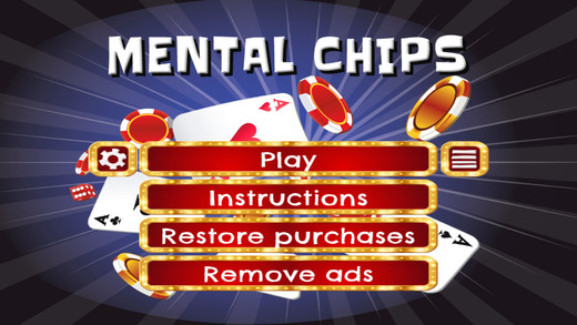 Mental Chips - HD - FREE - Shift Rows And Match Poker Chips Puzzle Game