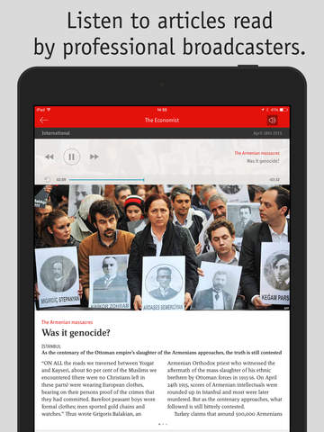 The Economist for iPad screenshot