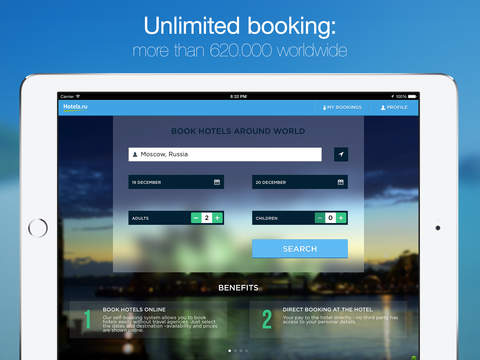 Hotels.ru for iPad - Book hotels around the world without prepayment or fees