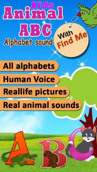 Animal alphabet for kids Learn Alphabets with animal sounds and pictures for preschoolers and toddle