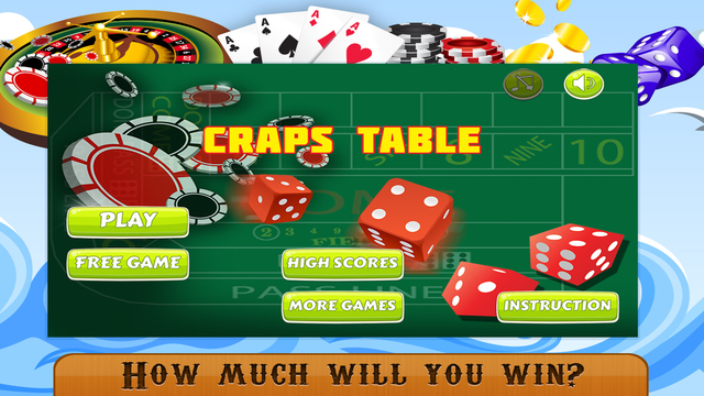Craps Table PRO - Best Free Casino Betting Game