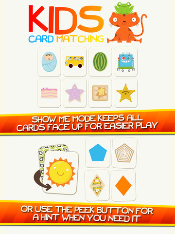 Kids Card Matching Educational Shapes and Color Learning Game for Toddlers Screenshots