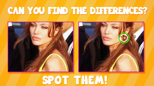 Spot It Celeb Edition - Find The Difference Game For Celebrity Photo Quiz