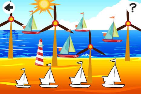 动画孩子玩与学习游戏免费开放海域党与船