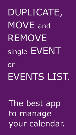 Events List Free Duplicator Mover Remover