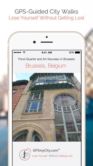 Pond Quarter and Art Nouveau in Brussels (Lite Version) iPhone Screenshot 1