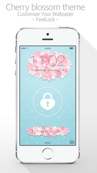 CherryLock : Cherry Blossom theme wallpapers for Lock screen
