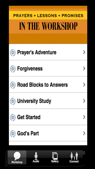 Prayer Workshop APP Screenshots