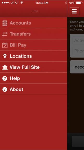 Wheatland Bank iPhone Screenshot 2
