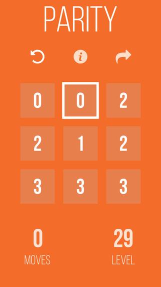 Parity puzzle game