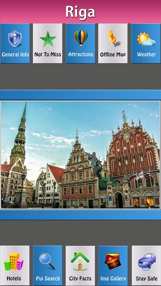 Riga Offline Map Travel Explorer