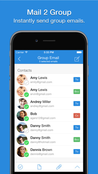 Mail 2 Group - Email To Contacts Fast