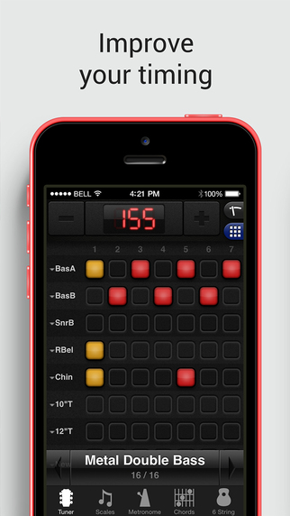 GuitarToolkit - chromatic tuner, metronome, chords, scales and arpeggios for guitar, bass, ukulele. Screenshots