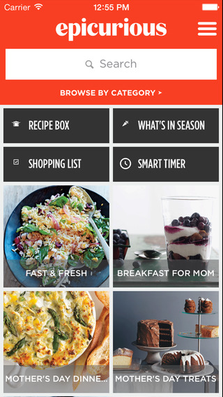 Epicurious Recipes Shopping List