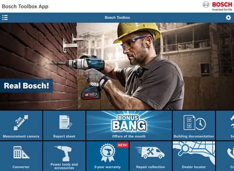 Bosch Toolbox for iPad
