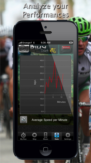 Biky Coach - Sport GPS Biking / Cycling / Bike / Racer - Free Edition iPhone Screenshot 4